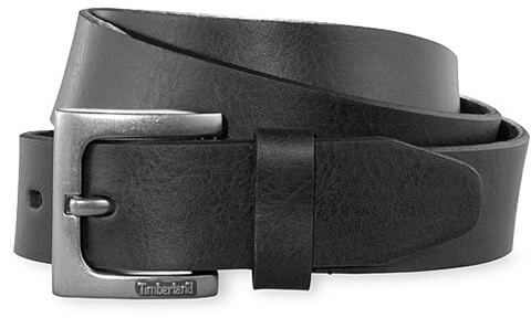 Timberland Sustainable Black Leather Belt